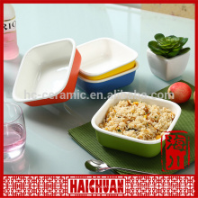 Ceramic round bakeware snack bowl bread holder salad bowl cake bakeware