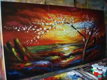 Oil Painting with High Fidelity Impressionism Oil Painting Reproduction, Paintings Can Be Used for Decoration