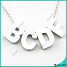 Charm personalizado letra minúscula collar colgante