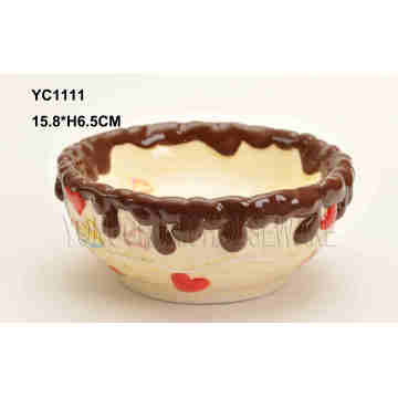 Hand Painted Cake Bowl