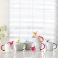 280cc Porzellan Teetasse mit gummiertem Griff und Butterfly Infuser