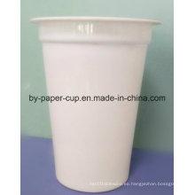 Copas de cristal de plástico blanco para beber en frío