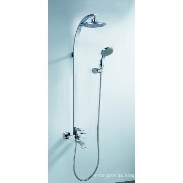 Mezclador de ducha de latón Sistema de ducha con cabezal tipo lluvia
