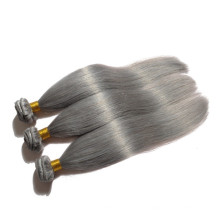 Nouveau style en gros pas cher 100% brésilien gris cheveux humains tissage pour la vente