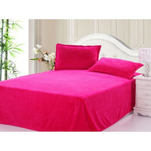 Conjunto de cama de 3 conjuntos de linho de coral