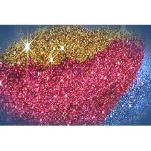 Glitter Paste utilisé avec des poudres colorées