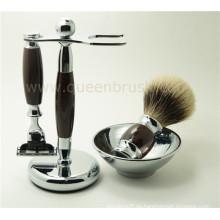 Cepillo de afeitar de calidad superior al por mayor conjunto con el pelo del tejón