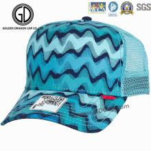 Art- und Weisesommer-blauer Ineinander greifen-Baseball-Hut / kundenspezifische Fernlastfahrer-Kappe