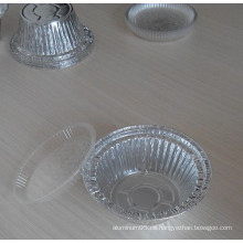 Bandejas de papel de aluminio / tazón de fuente redondo / cacerola de la pizza para la hornada, la congelación, la calefacción y el almacenaje de la comida