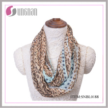2016 Spring Fashion Leopard Pattern Mujeres Sexy Infinity Scarf
