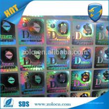 Qualidade garantida Cosméticos Embalagem 2d / 3d fazer holograma adesivo