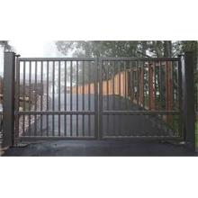 Black powder coated gate