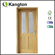 Porta interior de madeira contínua Prehung (porta interior)