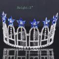 Royalblue Flower Crown Rhinestone Tiara Crystal Crowns For Party