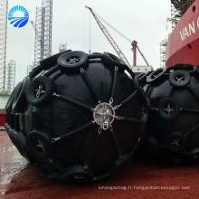 Amortisseur marin en caoutchouc gonflable de bateau de pêche utilisé pour le bateau à la station d'accueil