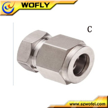Compression hydraulic Cap pu metric tube fittings