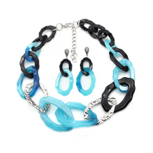2020 Trendy hook collar chain jewelry for women acrylic necklace and earrings sets