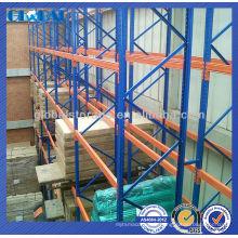 Palette d'étagère en acier de stockage diplômée empilant l'étagère / étagères pour le stockage d'entrepôt / magasin / supermarché