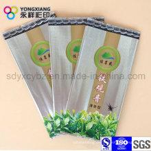 Back Sealed Fold Plastic Verpackungsbeutel für Tee / Kaffee