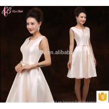 Short Suzhou barato vestido de dama de sol de la fábrica de satén de la fábrica