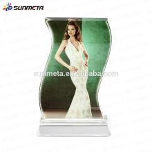 Directamente la fábrica de China de alta calidad de América de venta caliente Sublimación de impresión de cristal en blanco marco marco de recuerdo de cristal