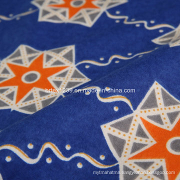 100%Cotton Flannel Fabric for Blanket with Reactive Printed (C20X10/40X42)