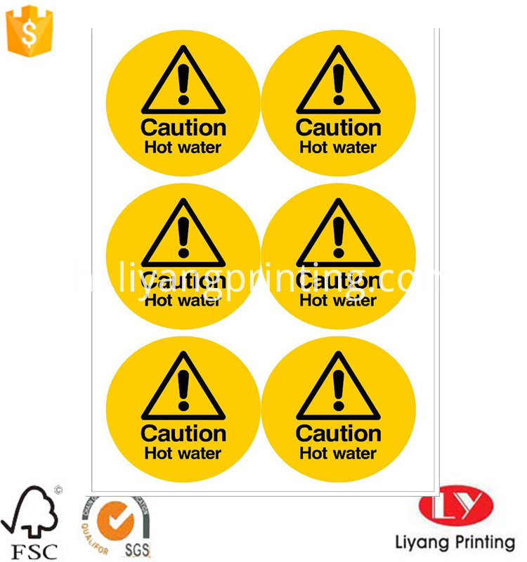 warning sticker