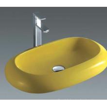 Bassin d'art céramique populaire, lavabo de lavabo de toilette (7042Y)