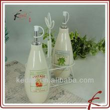 Aceite, vinagre, salsa de soja botella