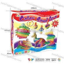 areia colorida para crianças