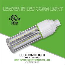 G24d de poupança de energia de 360 graus 12w, luz de bulbo da espiga de milho da base de G24q / lâmpada compatível com todos os tipos dos suportes