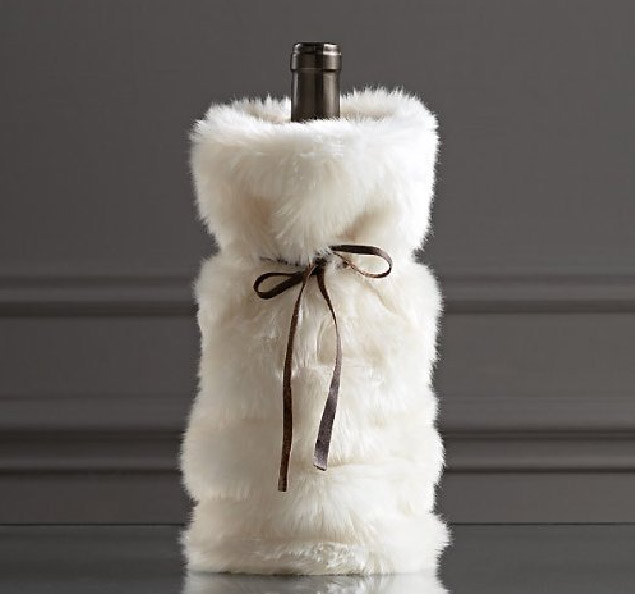 Christmas Plush Wine Bottle Cover Bag