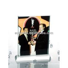 Sunmet sublimação cristal photo frame souvenir dom --- fabricante