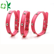 Silikon katt halsband Custom Dog Collar With Rivet