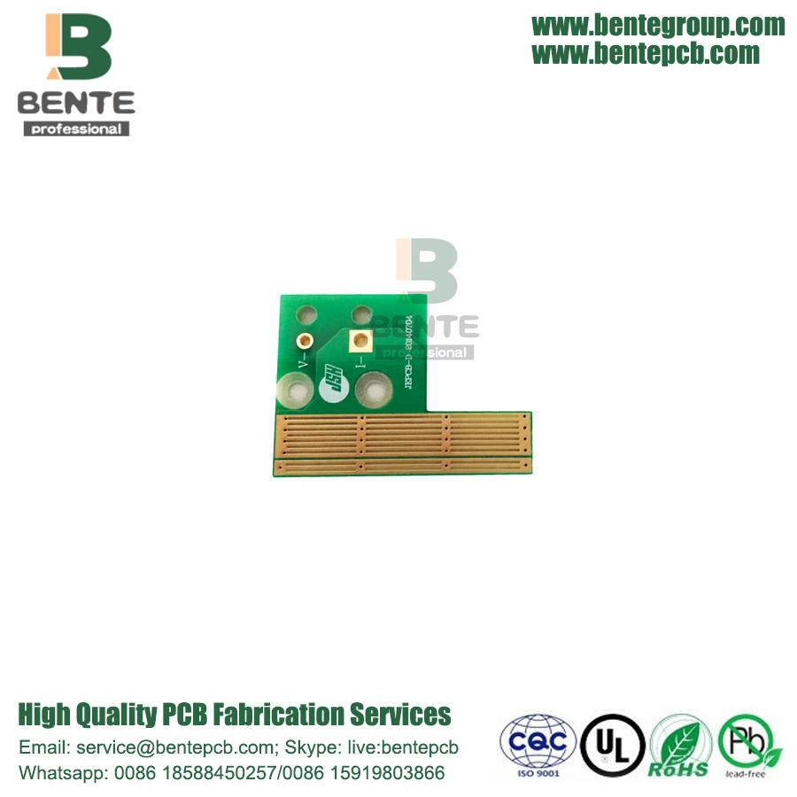 2 Capas PCB Quickturn PCB FR4 Tg135 Tapered Holes