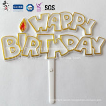 Happy Birthday Plastic Cake Decoration