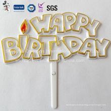 Decoração de bolo plástica feliz aniversário