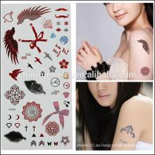 OEM Venta al por mayor tatuajes temporales de moda tatuaje lindo tatuaje tatuaje de alta calidad para la niña de la belleza V4646