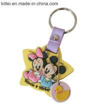 Verkaufsschlager-Silikon fertigte Metallförderung Keychain besonders an
