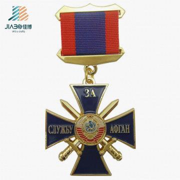 Высокое качество pin эмали меч изготовленные на заказ воинские медальоны медаль в металлические ремесла