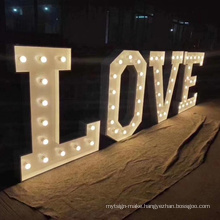 Heart Sign Love Letter LED Marquee illuminated Letters for Store/Home/Exhibition/Holiday Party/ Christmas/ Trade show/ Wedding