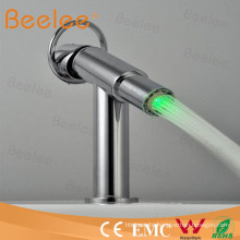 Hydropowered LED Mixer Tap Basin Faucet (cold&hot) Qh0618f