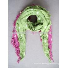 fashion printed polka dot scarf cotton