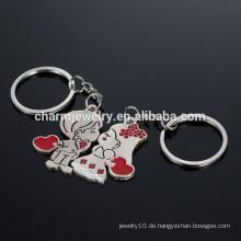 Junge und Mädchen Liebhaber Schlüsselkette Geschenk Paar Schlüsselkette Die Braut und Bräutigam Cartoon kleine Schlüsselanhänger YSK007