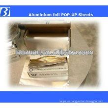 hojas de papel de aluminio