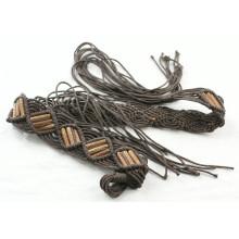 Mode Handgefertigte Kleidungsstück gewachste Schnur geflochtene Gürtel-KL0052