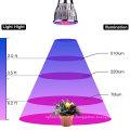 Planta LED Grow Light Three-Head 15W Clip Desk espectro completo Grow lámpara con cuello de ganso flexible de 360 grados