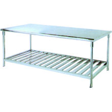 1800*700*850mm Hospital Furnitures-stainless Steel Work Table With Two Layers