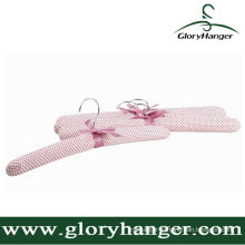 Fashion Pink Satin Padded Hanger for Clothes Shop