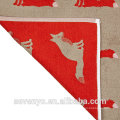 creative design red fox pattern jacquard design super absorbent bath mat BM-038